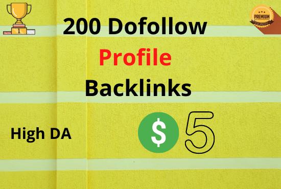 I will Create 50 High DA Profile Backlinks Manually