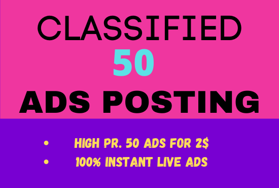 I will do classified ad posting on top USA ad sites