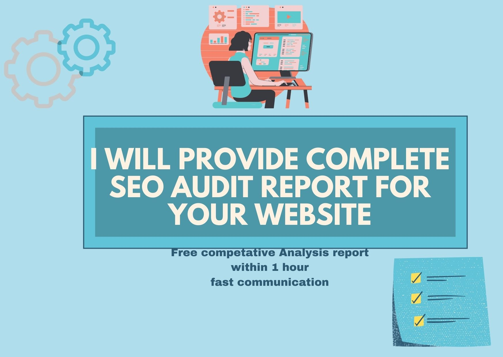 I will provide complete SEO Audit report of your website within one hour