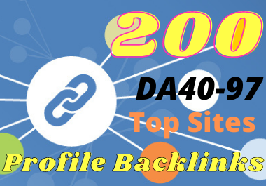 Provide 200 high domain authority profile backlinks