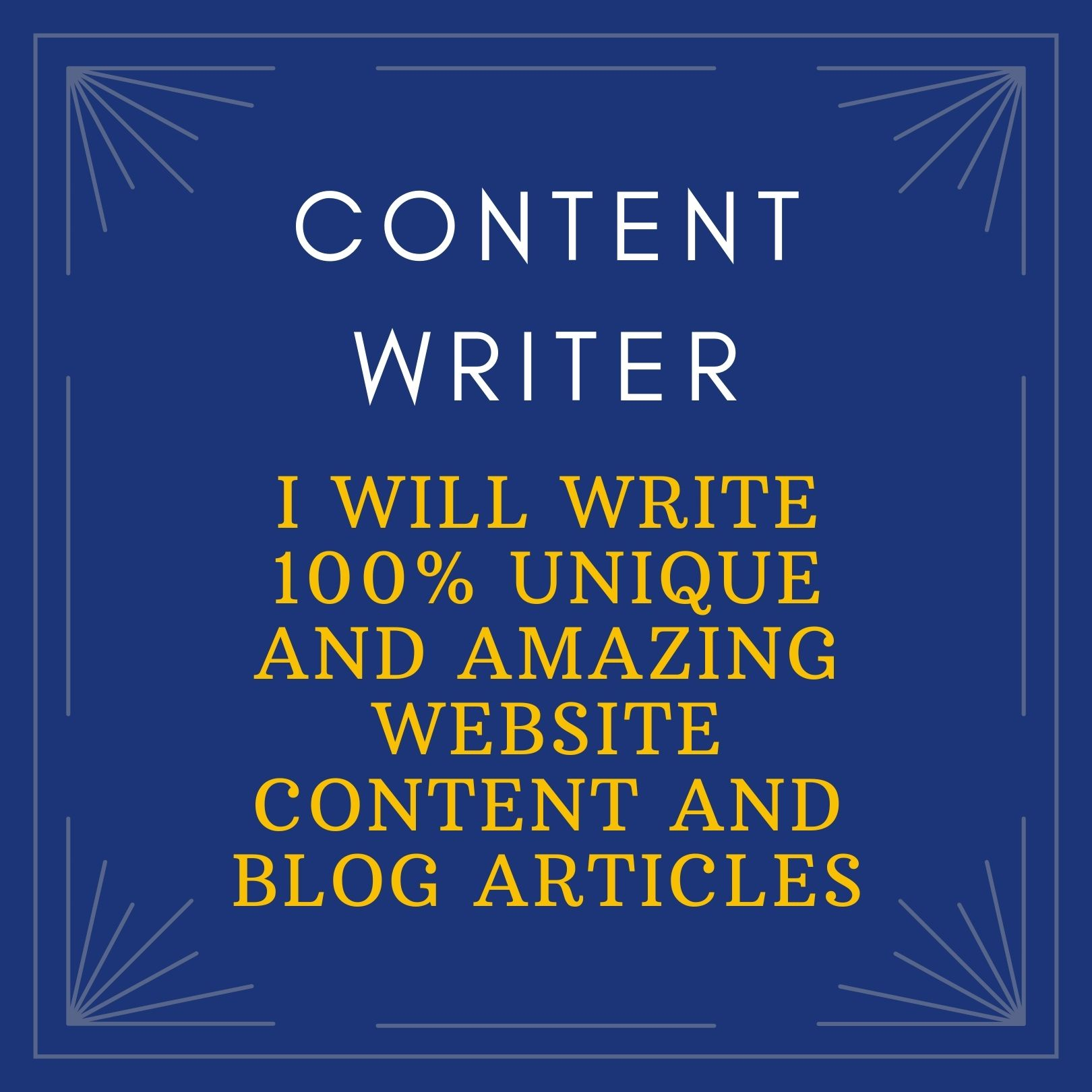 I will write 500-1000 words unique and amazing website content and blog articles