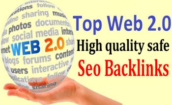 Land on Google 1st page with High DA 30 Web2.0 Backlinks