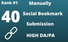 I Will create 40 High DA 38, 98 Social Bookmarks Submission