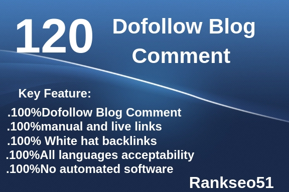 120 Blog Comment Unique Backlinks