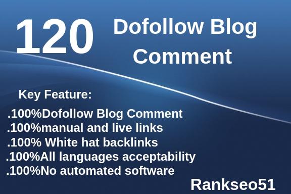 120 Dofollow Blog Comment Unique Backlinks