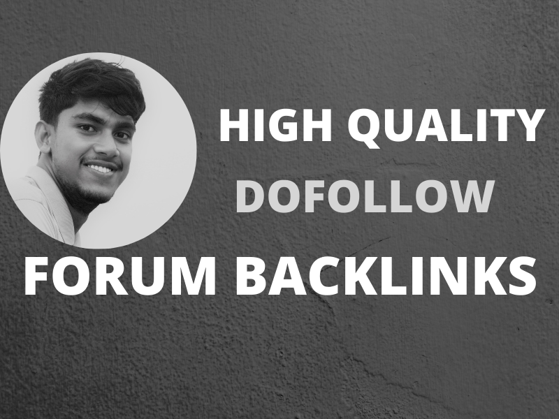 I will provide high quality forum backlinks niche and general