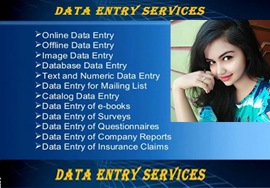 I will do give you A2Z data entry services in 24 hours