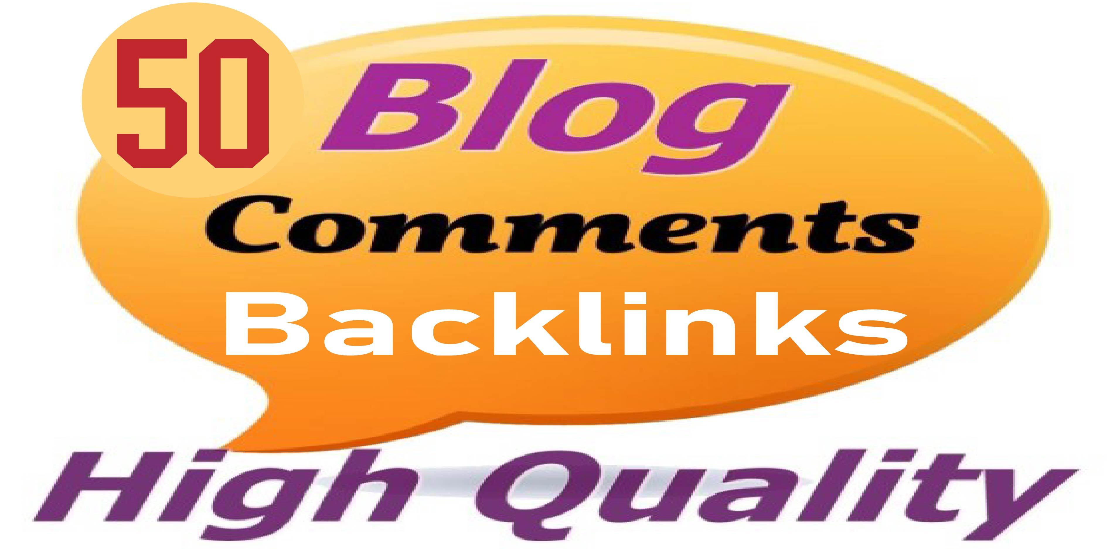Build 50 Unique Domains Blog Comments Backlinks