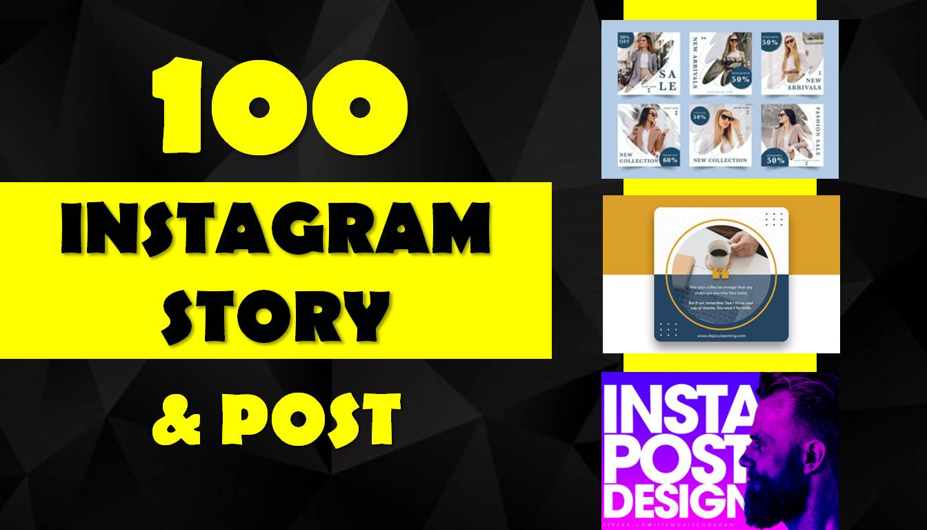 I will Provide 2 unique instagram post and story design