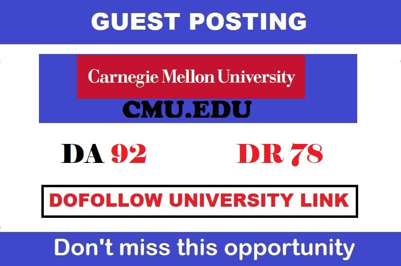 Publish a guest post onCarnegie Mellon University - Cmu. edu - DA92