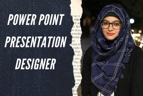 I wil do design modern power point presentation google slide.