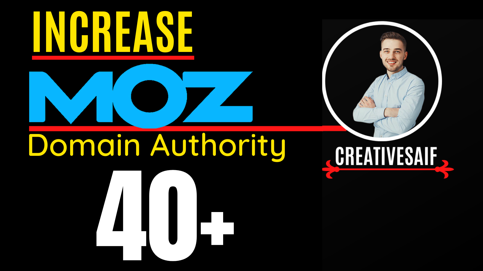 I will increase moz domain authority,  increase moz da 0 to 40 plus