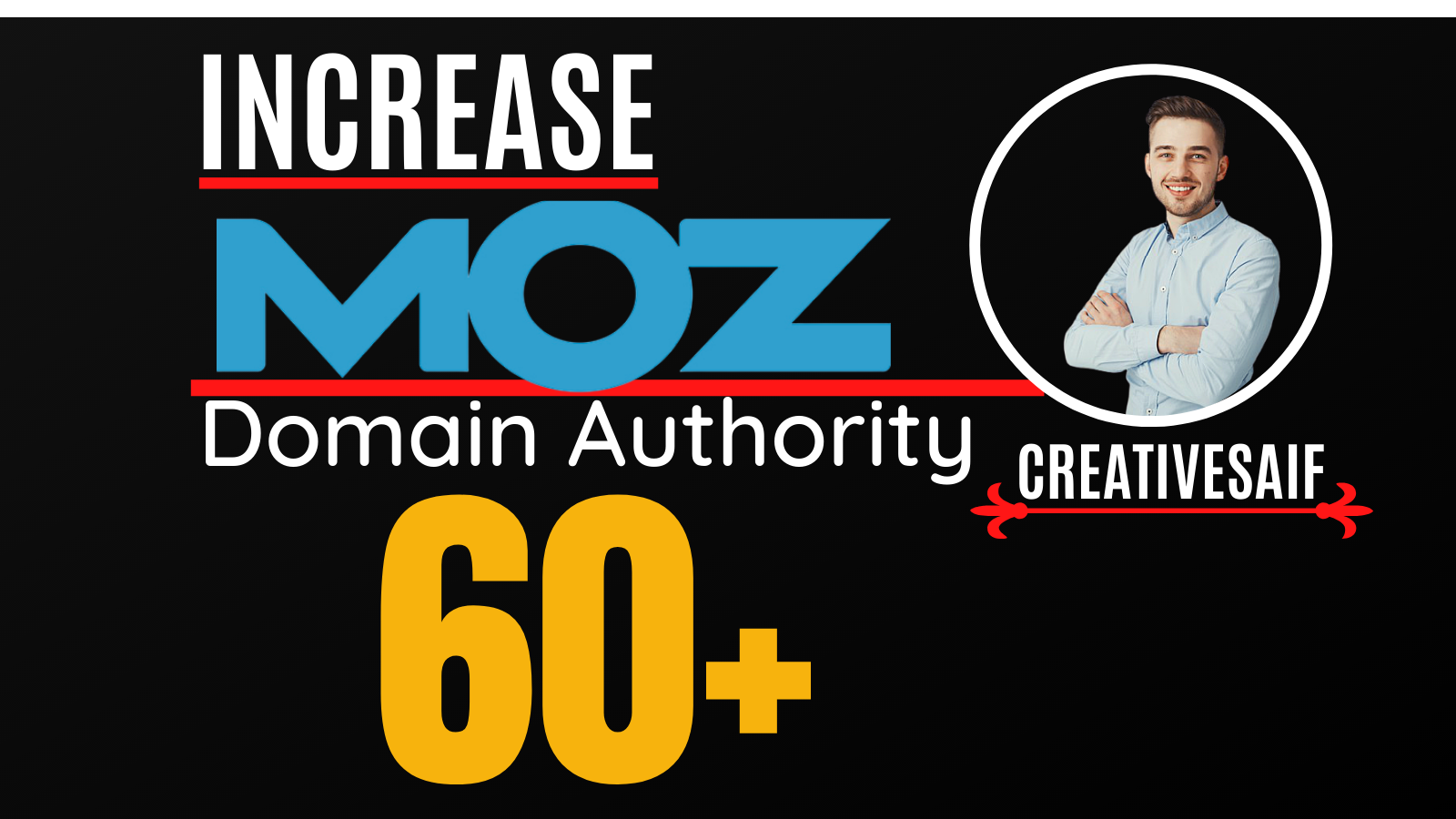 I will increase moz domain authority, increase moz da 0 to 60 plus