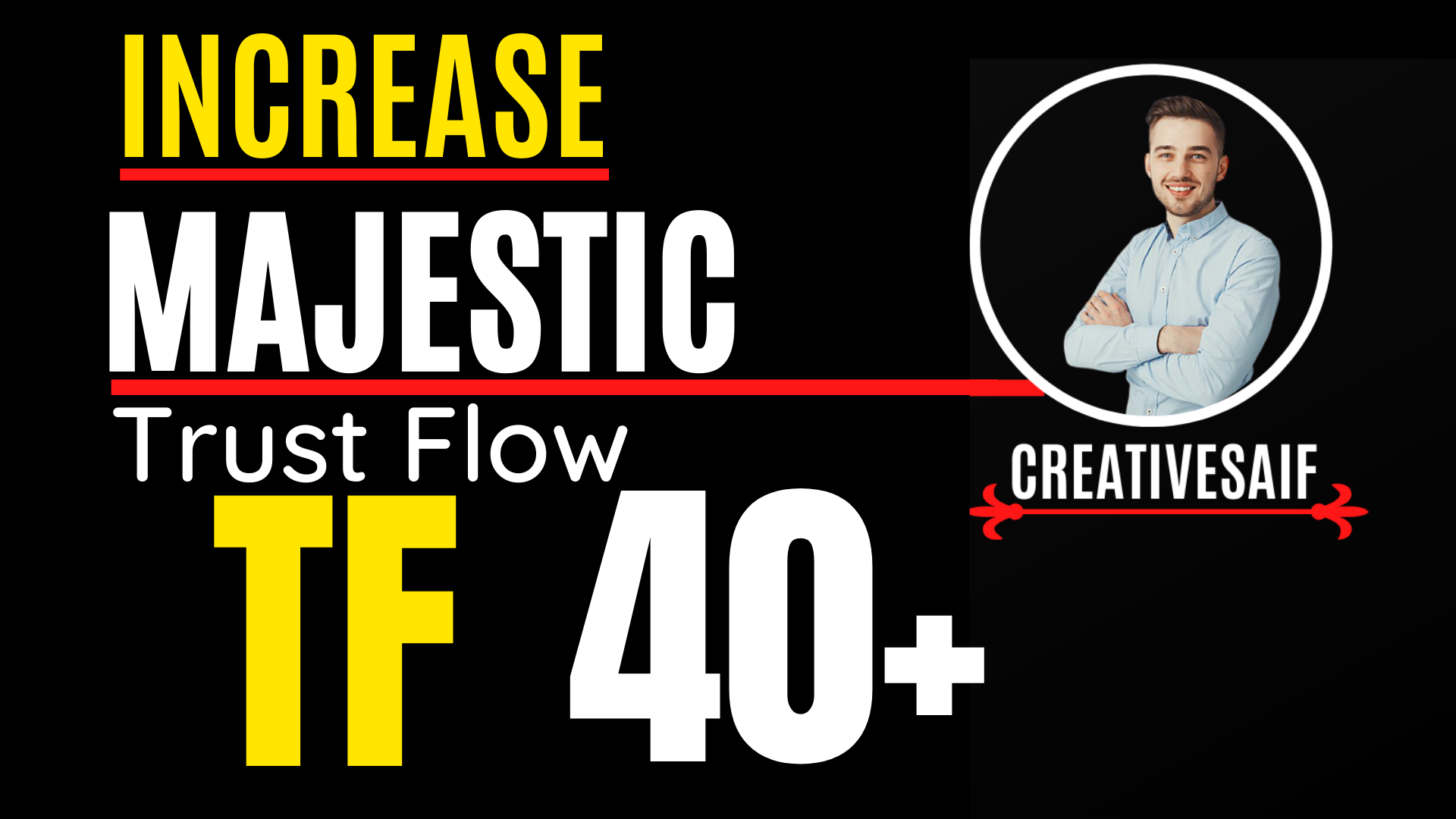 I will increase Majestic Trust Flow 40 plus with White hat SEO