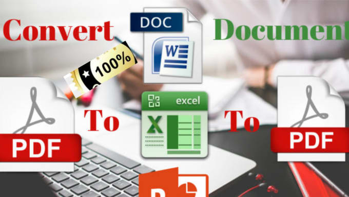 I will do convert ms word,  excel and power point into PDF file