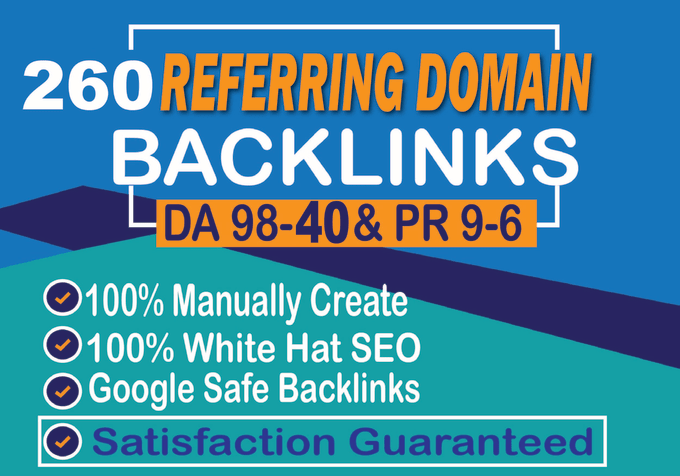 I will build safe way 260 unique referring domain SEO backlinks for you