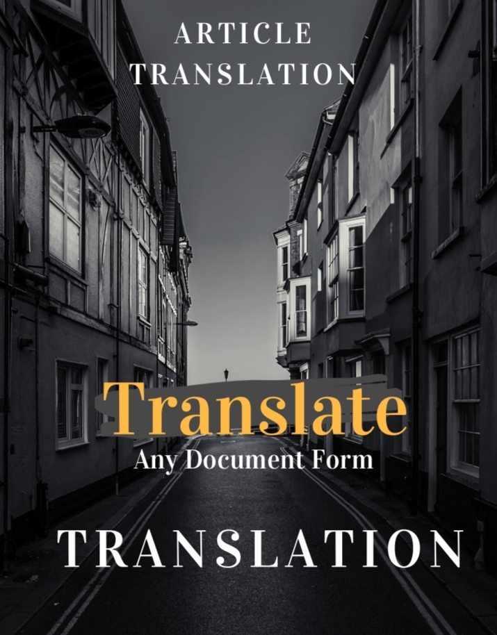 Translation from English to 20+ Language Get Your ORDER in Just 4hours