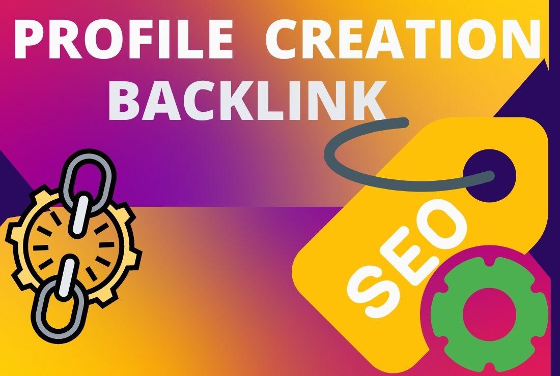 I will give 20 High-Quality Profile Creation SEO Backlinks Service.