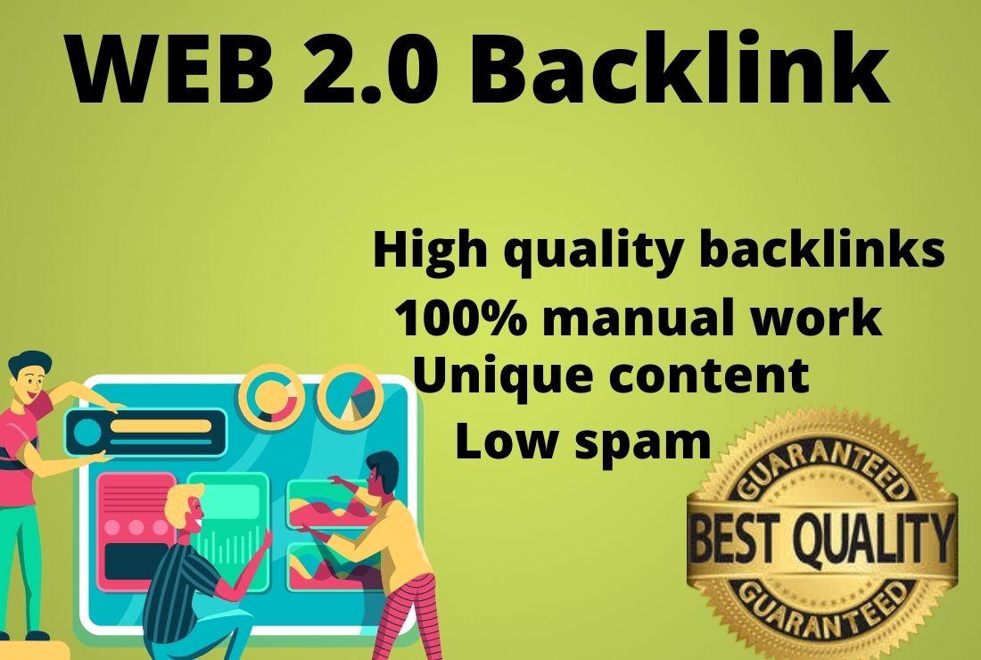 I Will Create High DA PA Dofollow Manually 20 Permanent Web2.0 Backlinks.