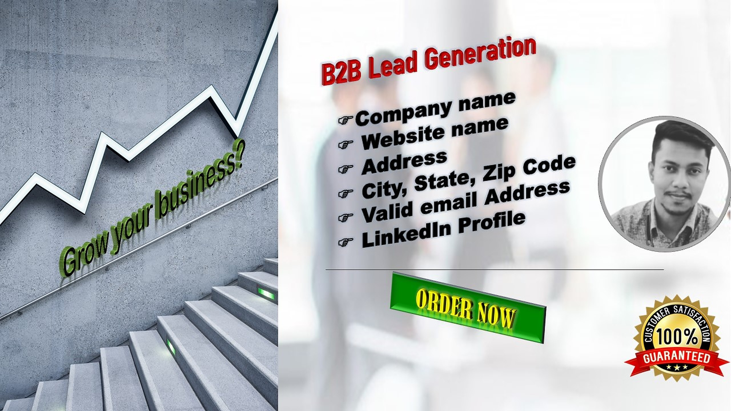 I will do b2b lead generation and prospect email list for your targeted business