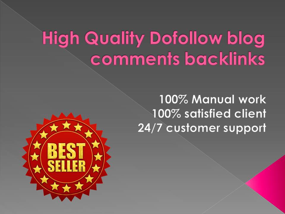 I will create 500 dofollow blog comments backlinks DA 30+