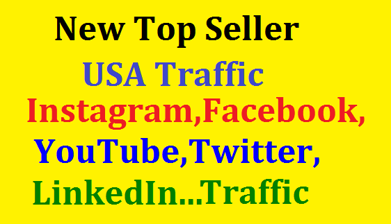 Bumper Offer 400,000 Worldwide Website USA Real Traffic Instagram,YouTube,Twitter,LinkedIn Traffic