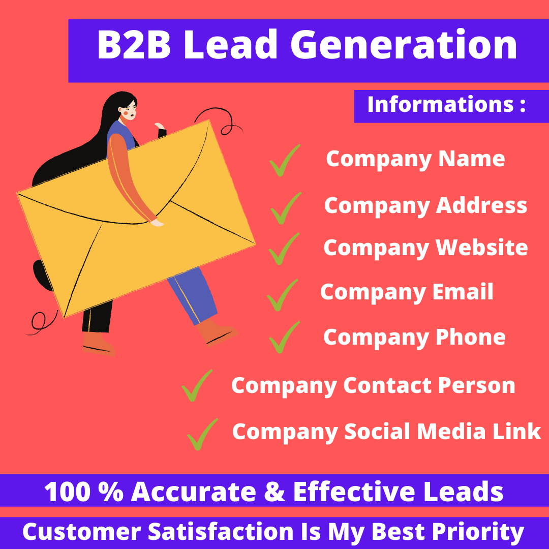 I Will Do 200 Lead Generation,  B2B Lead Generation
