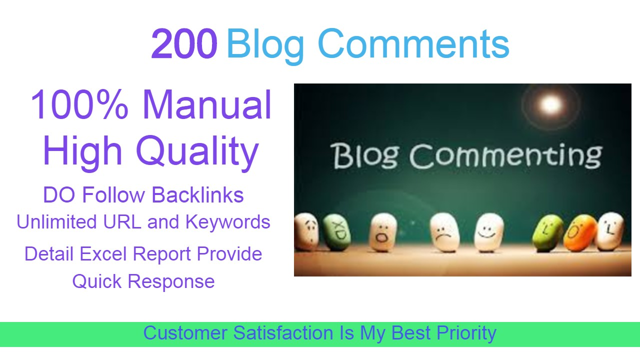 I Will Provide 200 Blog Comments