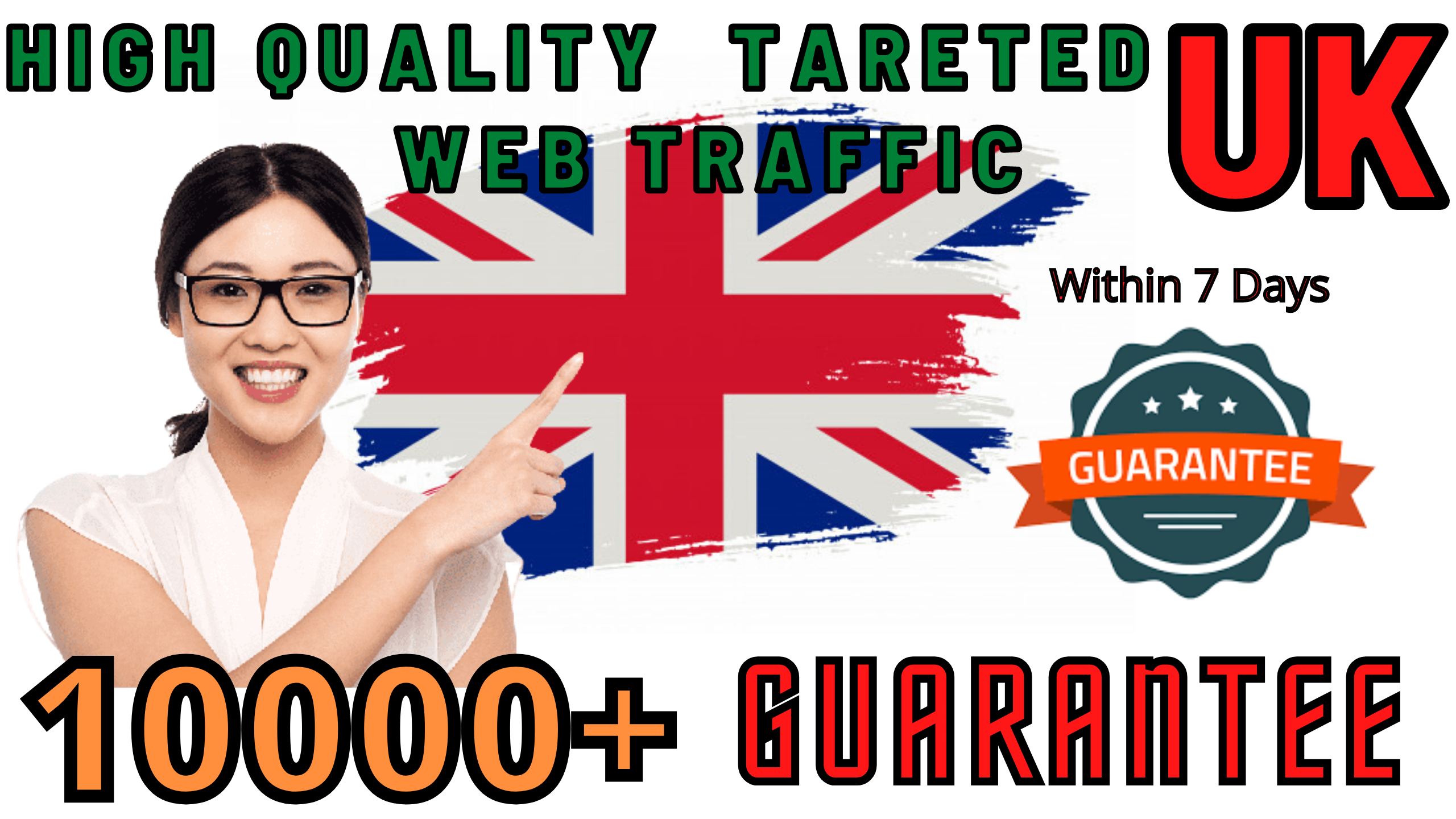 Send 10000 UK TARGETED REAL Web Traffic to your web or blog site within 7 days