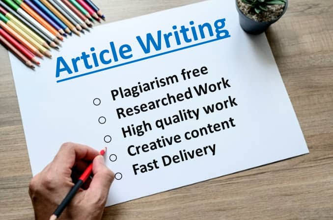 I will write 2×500 words article for your website or blog