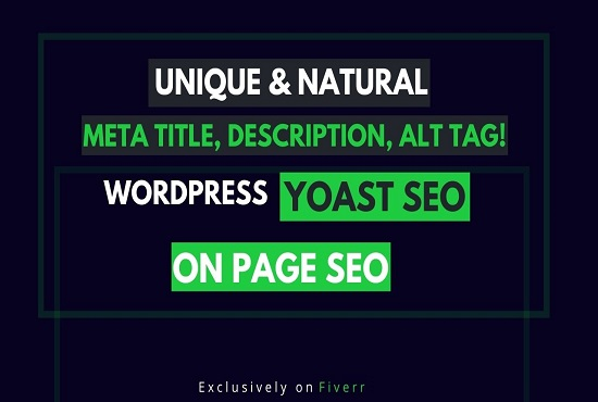 I will write unique SEO meta title,  description,  image alt tags