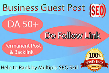 publish article in DA 50+ business blog site with do follow link