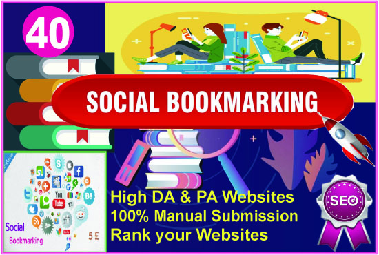 I will Create Top 40 Social Bookmarking Backlinks for Ranking your Google Site.