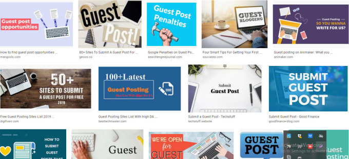 Create 20 high authority guest post for your websites