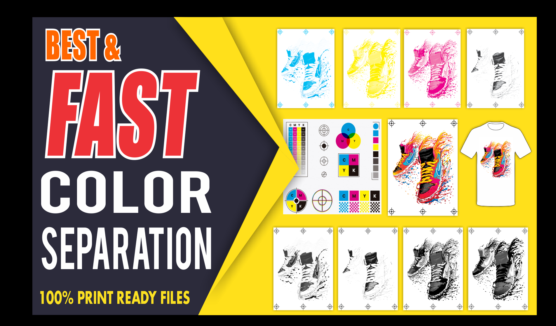 I will do Color Separation for Screen Print and Vector Tracing