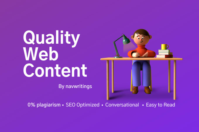 Get amazing quality 700 words web page content and snappy blog post