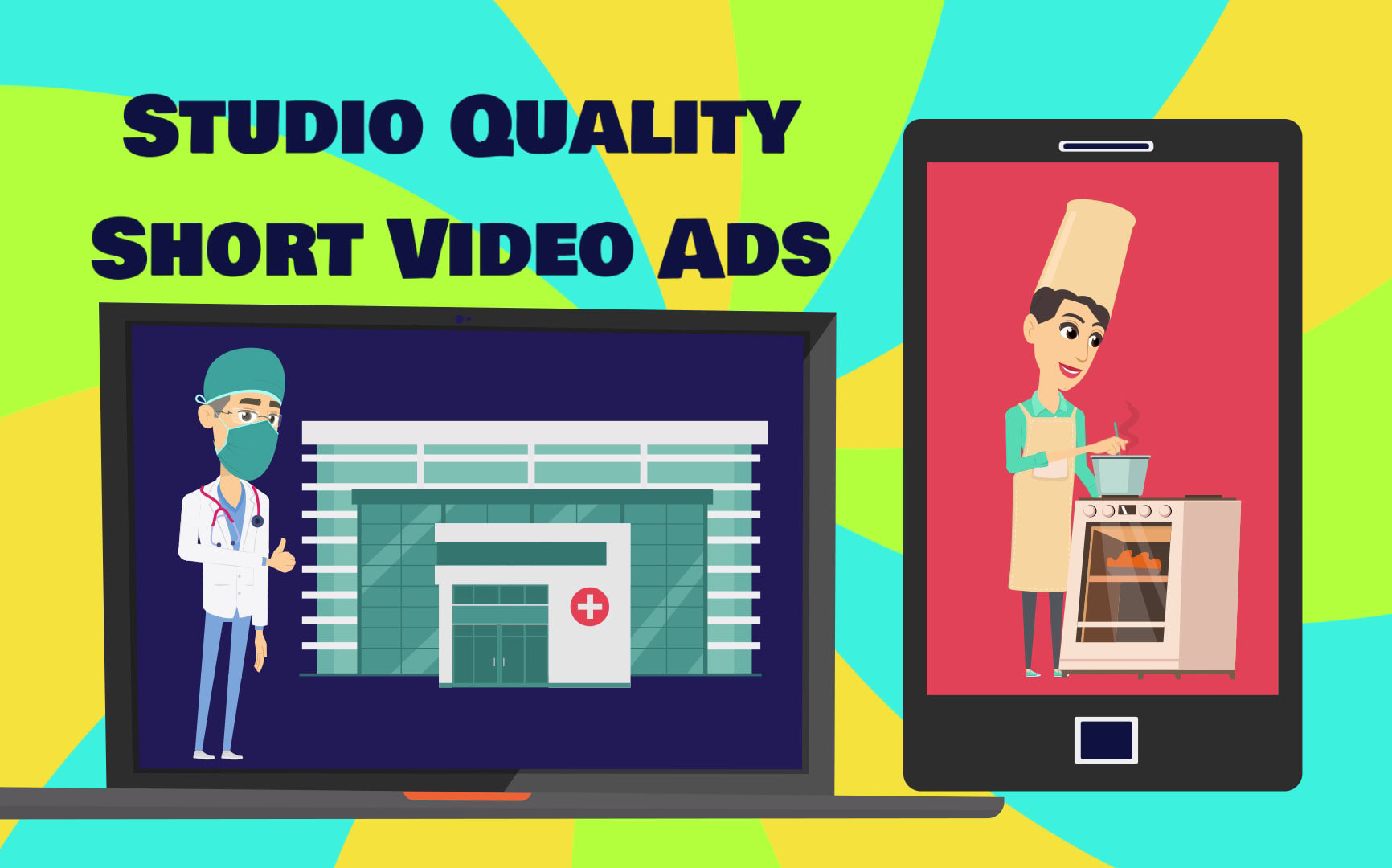 I will make short animated AD videos for you