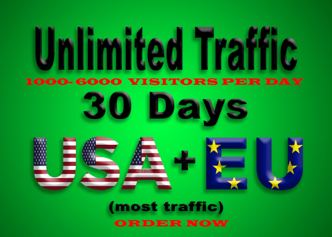We can provide 15000 high quality web traffic from USA and EUROPE