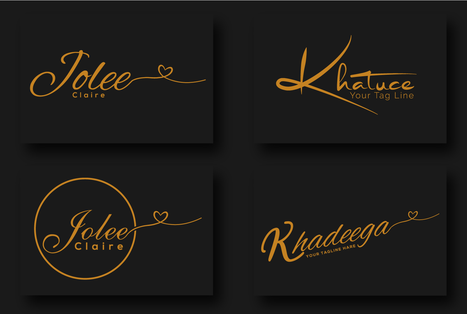 I will do modern luxury handwritten signature logo within 8 hours