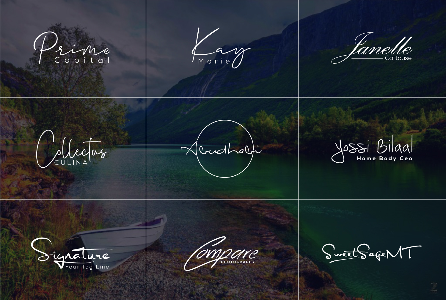 I will do scripted calligraphy handwritten or signature logo design