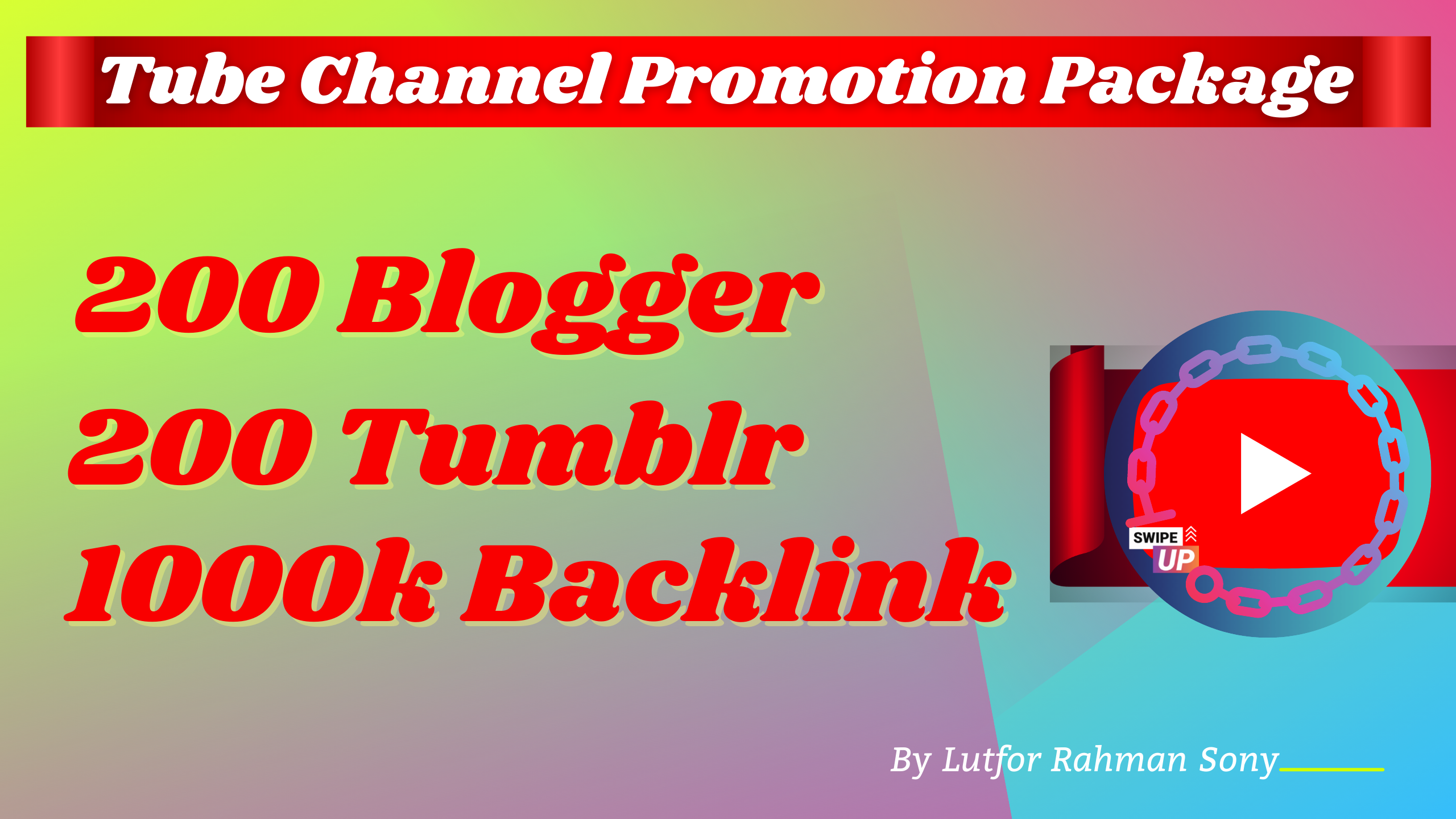 Video Channel Marketing - 12 Million Embeds + 200 Blogger,  200 Tumblr & EDU backlinks