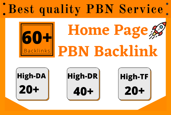 Build DA20 to 90+ High Quality 60 PBN Do follow Backlinks-Permanent Backlink service