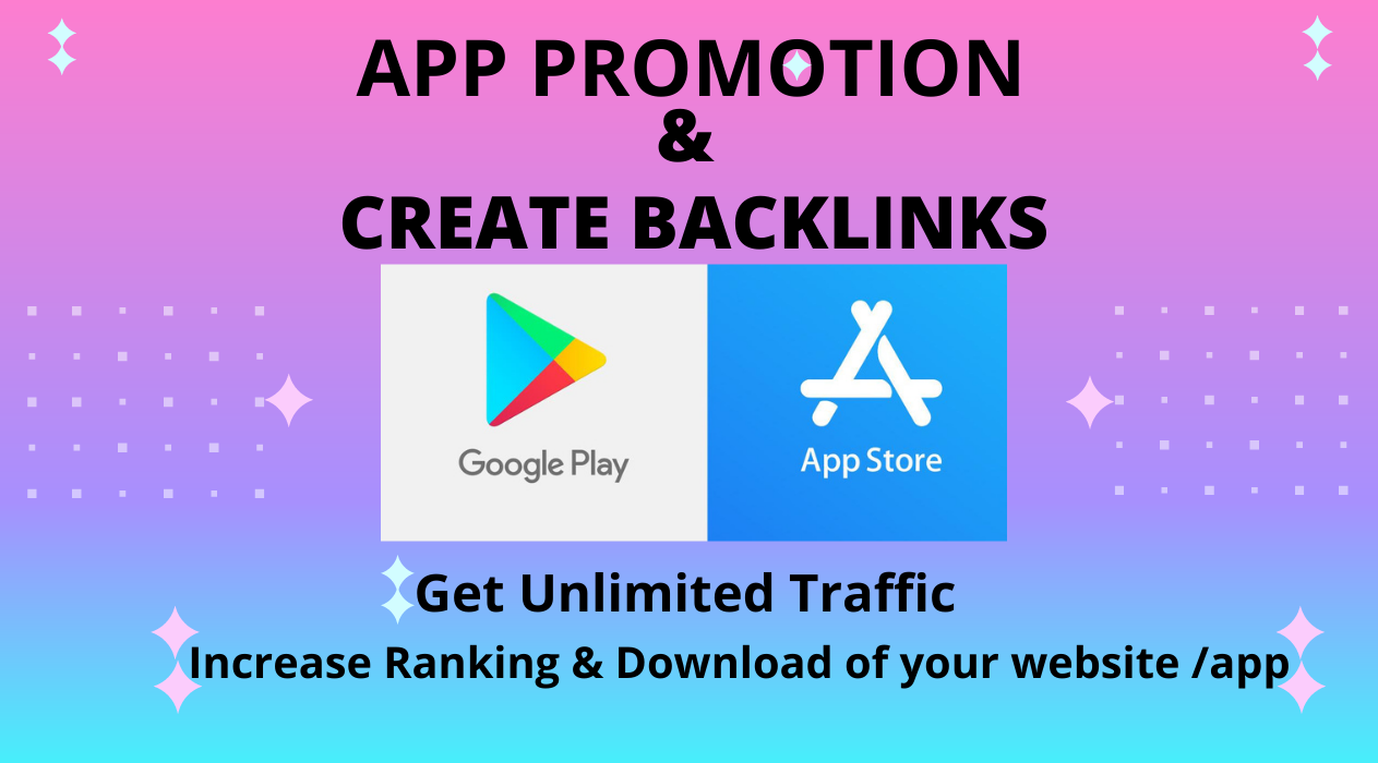 ASO,  App Promotion and create BACKLINKS for your App/Game