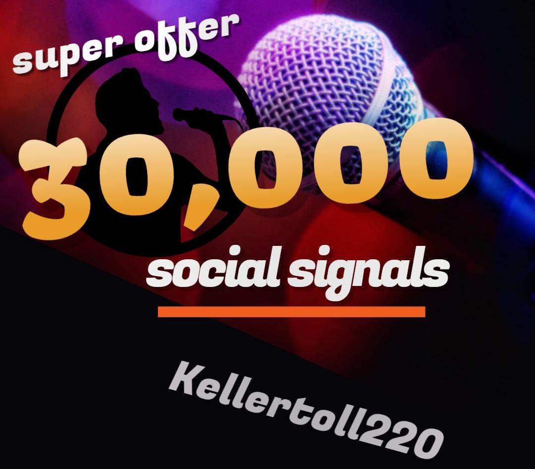 30,000 Web Share Social Signals PR 10 Boost SEO Ranking Rocket