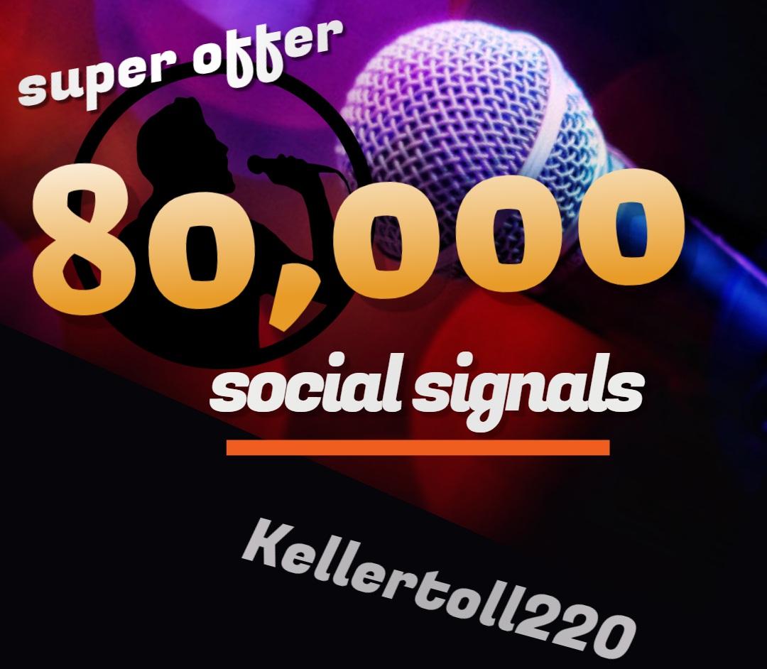 80,000 Web Share Social Signals PR 10 Boost SEO Ranking Rocket