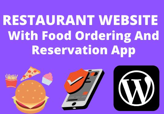 I Will Create Restaurant Website With App