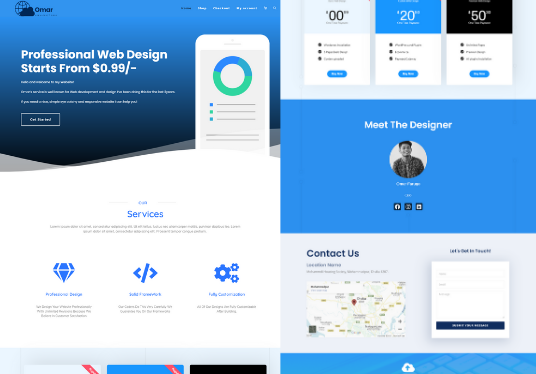 i will create professional landing page