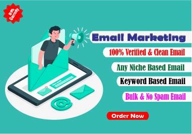 I will do create organic niche based verified email list
