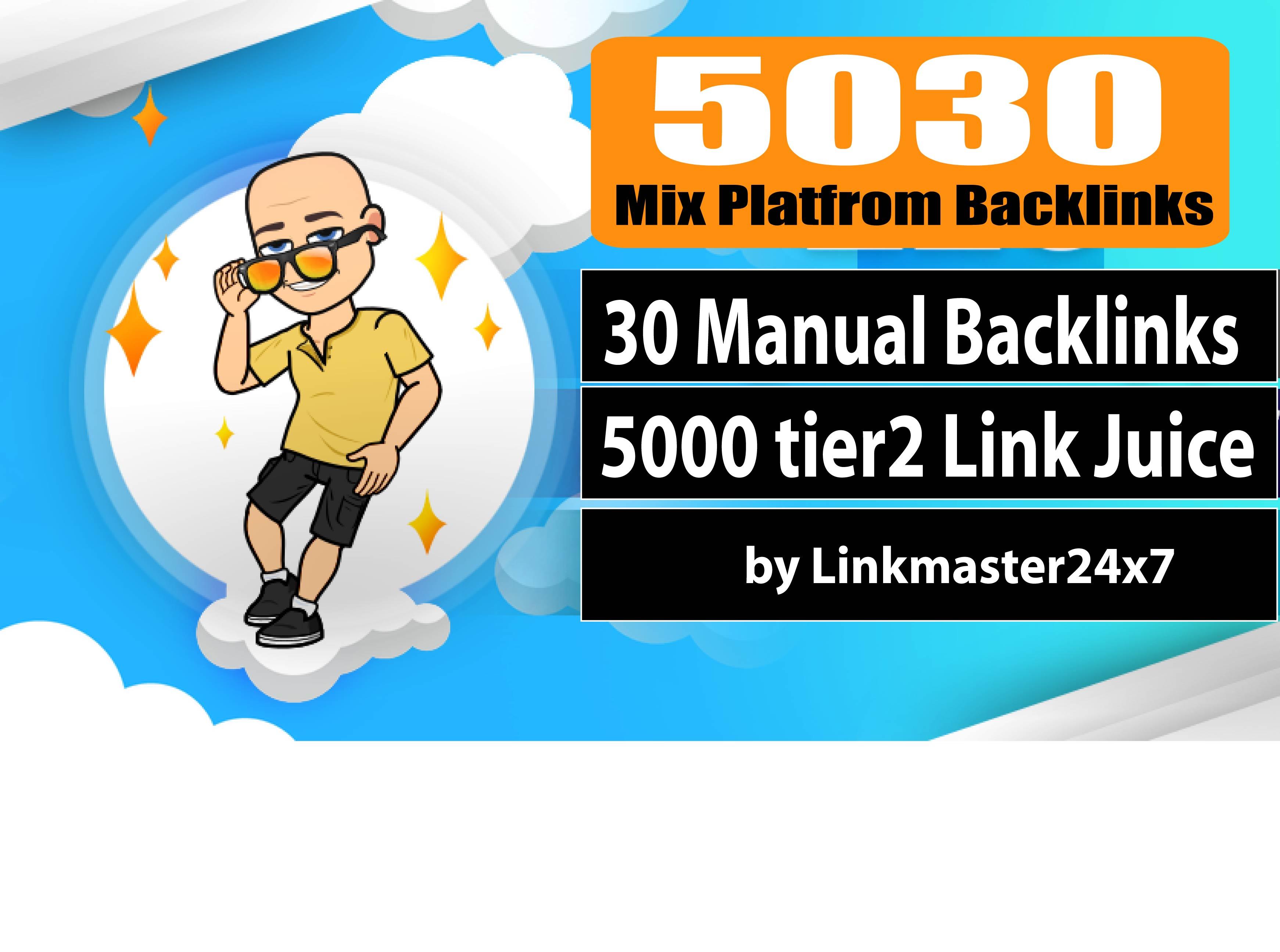 5030+ Mix Platform Backlinks Web2, Profile, Wiki, Bookmark, Edu-Gov And 5000+ Tier2 Link Juice