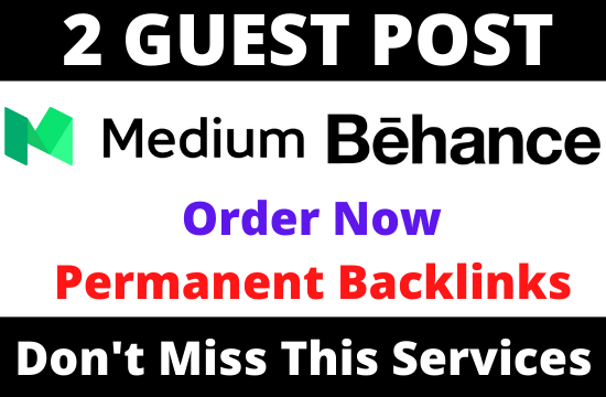Write and Publish 2 Guest post Medium. com and Behance. com